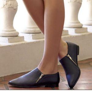 Sole society black pointy toe flats